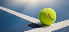 Close-up Shots Of Tennis Balls...