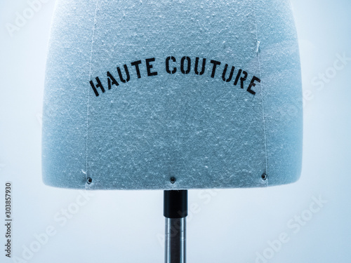 Haute Couture signage on mannequin made from fine luxury garment textile in luxu Canvas Print