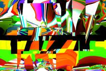 Colorful Digital Graphic Patte...