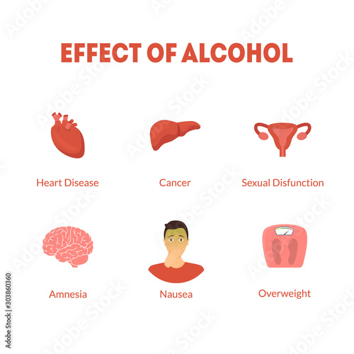 Photo Cartoon Effect of Alcohol Icon Set. Vector