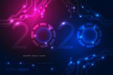 Happy New Year 2020 Design Wit...