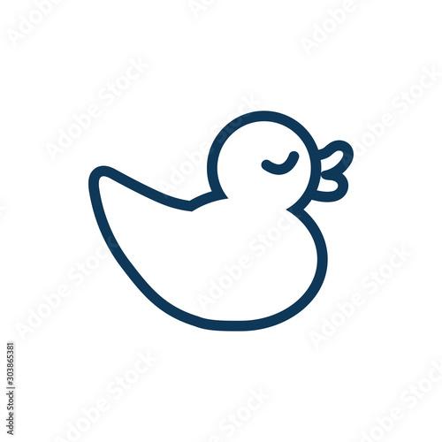 ducky child toy line style icon Tapéta, Fotótapéta
