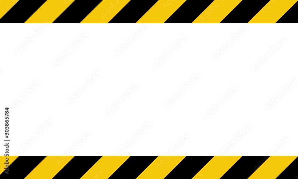 Fototapeta Black and yellow line striped background. Caution tape