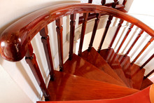 Wooden Spiral Staircase For Wa...