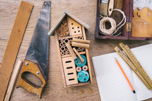 Making Wooden Insect House