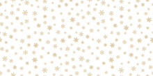Golden Snowflakes Background. ...