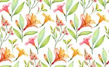 Watercolor Seamless Tropical P...