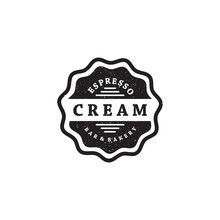 Cream Logo Design In Vintage