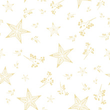Vector Bohemian Christmas Gold...