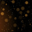 Gold bokeh, shiny glittering golden and silver stars