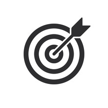Target (bullseye) With Arrow Line Art Icon For Apps And Websites