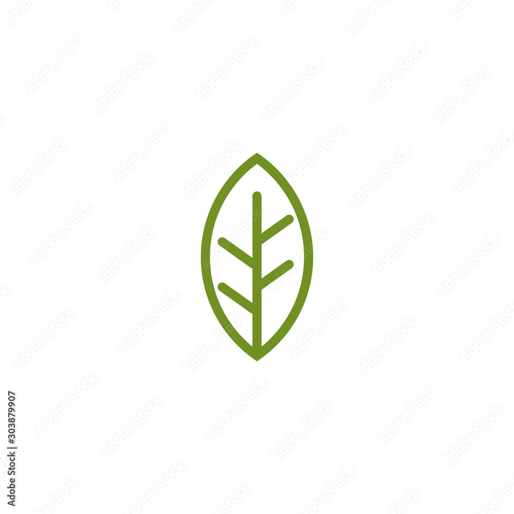 Fototapety, obrazy: Leaf icon logo design vector template