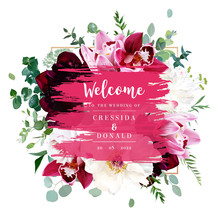 Elegant Floral Vector Card Wit...