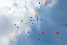 Colorful Balloons On The Air