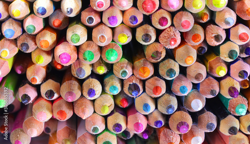 Fototapeta pencil tips ideal as a backdrop for posters or as a hobby and dr