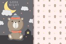 Cute Teddy Bear Illustration W...
