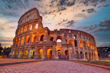 Colosseum At Sunset, Rome. Rom...