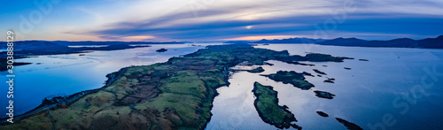 aerial panorama of loch linnhe on the west coast of scotland in the argyll regio Wallpaper Mural