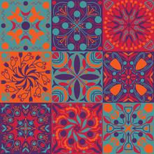 Vector Bright Colors Ethnic Ti...