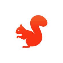 Squirrel Sitting Icon. Vector ...