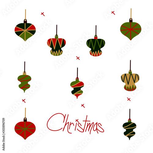 Navidad Adornos Fototapet