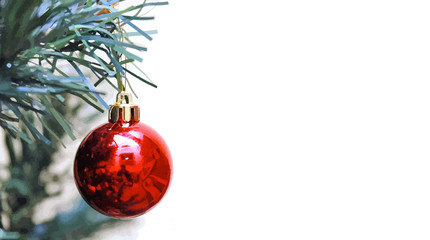 bola roja navidad árbol merry christmas 10-as19