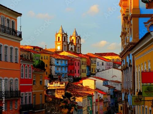 Leinwand Poster Amérique du Sud, Brésil, État de Bahia, Salvador, centre historique Pelourinho