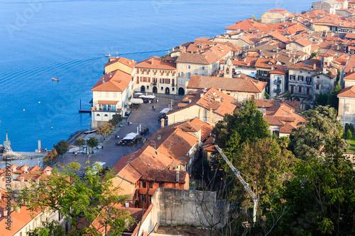 panoramic view of the city of Arona/panoramic view of the city of Arona overlook Wallpaper Mural