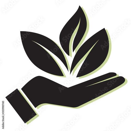 Obraz Sustainability - Plant Icon - fototapety do salonu