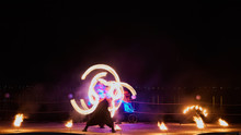 Artists Juggling With Burning ...