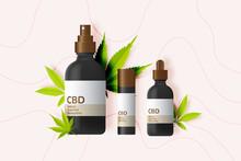 CBD Product With Cannabidiol Leaves