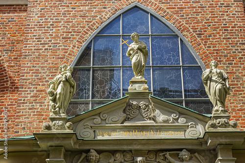 German church (Tyska kyrkan or Sankta Gertrud, XIV century) in Gamla stan - Old Town in central Stockholm Canvas Print