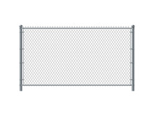 Chain Link Fence Panel. Metal Wire Fence.