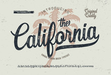 """California"". Vintage Brush Fo..."