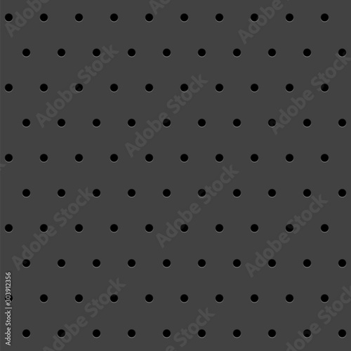 Abstract texture with round perforated holes. Vector background. Fototapeta
