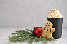 Cappuccino And Cinnamon In A P...