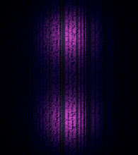 Vertical Abstract Background Texture Of Purple Blocks. Print. Abstract Geometric Cubes Elements Stacked In Long Rows In Many Floors.