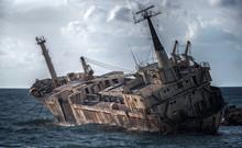 Cyprus, Paphos. Shipwreck. The...