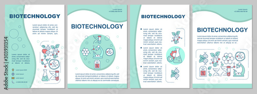 Fotomural Biotechnology brochure template