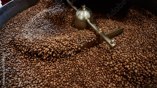 Freshly roasted coffee beans Canvas Print