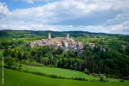 View of San Casciano dei Bagni, Italy