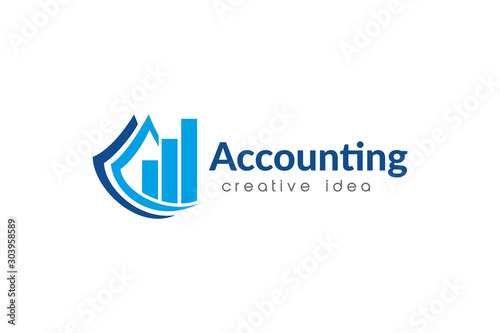 Fototapeta Creative Accounting Logo Design Template obraz