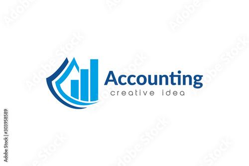 Photo Creative Accounting Logo Design Template