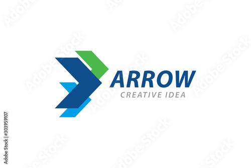 Fotografía  Creative Arrow Logo and Icon Template
