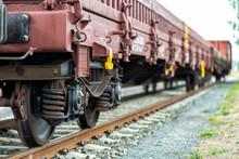 Güterzug Auf Einem Güterbahnhof