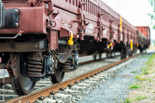 Güterzug auf einem Güterbahnhof Canvas Print