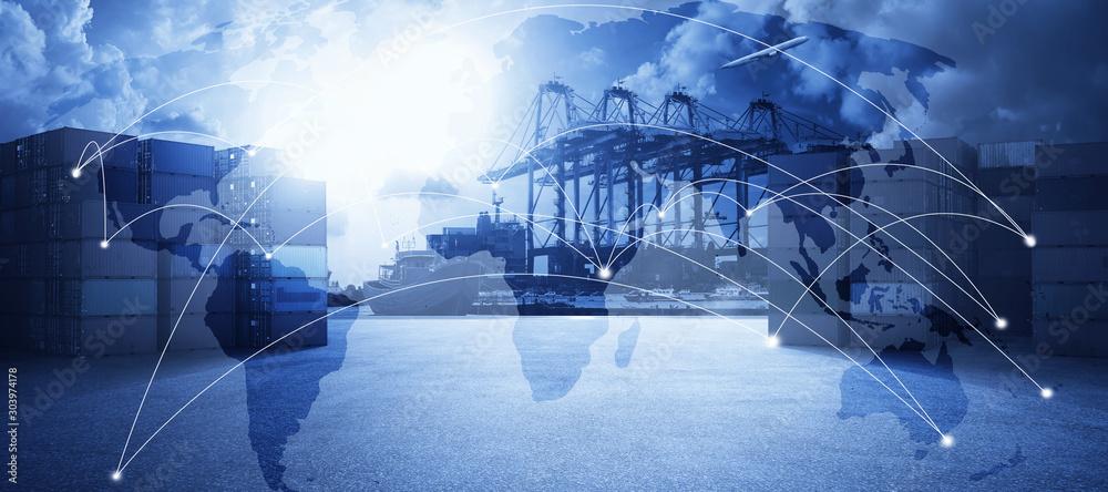 Fototapeta Transportation trading business concept .