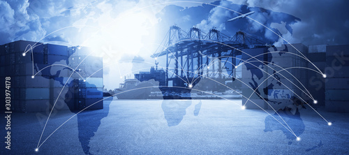 Transportation trading business concept . Canvas