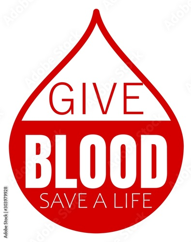 Give blood save a life design #303979928