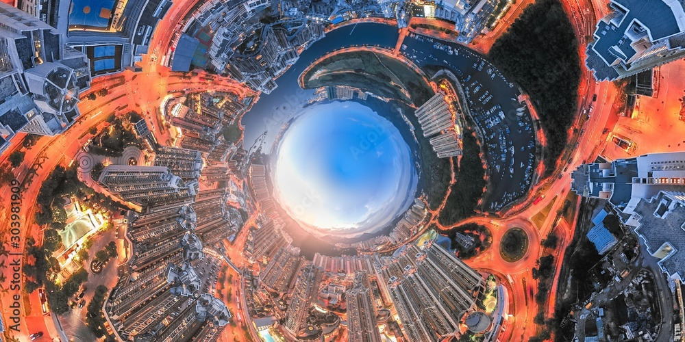 Fototapety, obrazy: Hong Kong Architectures view from high angle
